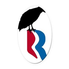 romney_vulture_12 Oval Car Magnet