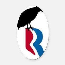 romney_vulture_12 Oval Car Magnet