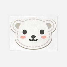 Cute Polar Bear 5'x7'Area Rug