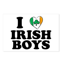 I Love Irish Boys Heart Postcards (Package of 8)