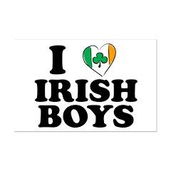 I Love Irish Boys Heart Posters