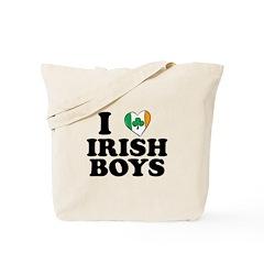 I Love Irish Boys Heart Tote Bag