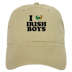 I Love Irish Boys Heart Baseball Cap
