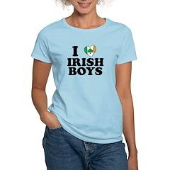 I Love Irish Boys Heart T-Shirt