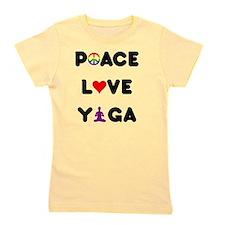 peace love yoga layer Girl's Tee