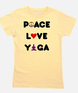 peace love yoga layer Girl's Tee