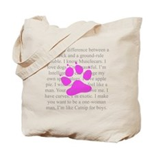 Catnip Description Tote Bag