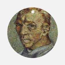 Van Gogh Mosaic of all his painting Round Ornament