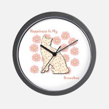 Snowshoe Happiness Wall Clock