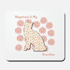 Snowshoe Happiness Mousepad