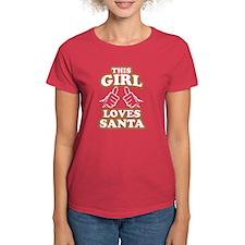 This Girl Loves Santa T-Shirt