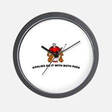 Goalies do it with... Wall Clock