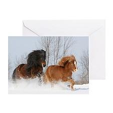 Icelandic Horse Winter Greeting / Holiday Card