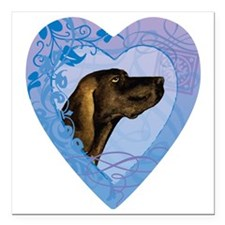 "plott-heart Square Car Magnet 3"" x 3"""