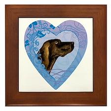 plott-heart Framed Tile