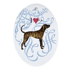 plott-oval charm Oval Ornament