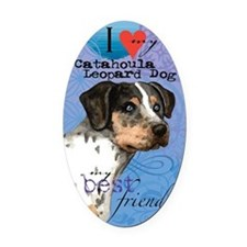 catahoula-kindle Oval Car Magnet