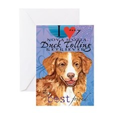 toller-iPad Greeting Card
