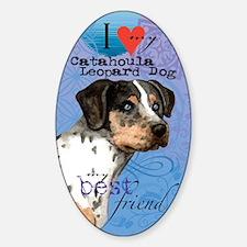 catahoula-kindle Sticker (Oval)