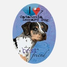 catahoula-kindle Oval Ornament