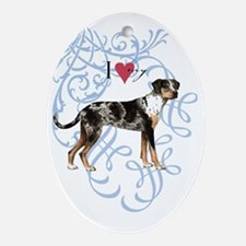 catahoula-oval charm Oval Ornament