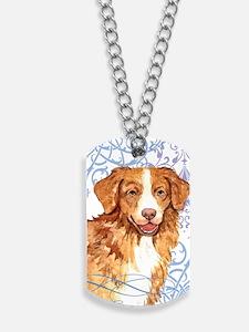 toller-key2 back Dog Tags
