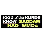 100% of the KURDS Bumper Sticker