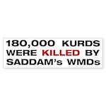 Gassed Kurds Bumper Sticker