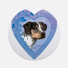 catahoula-heart Round Ornament