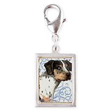 catahoula-key2 back Silver Portrait Charm