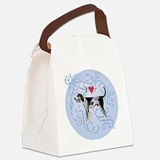 bluetick-charm2 Canvas Lunch Bag