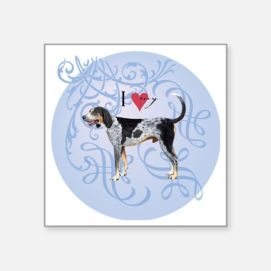 "bluetick-charm2 Square Sticker 3"" x 3"""