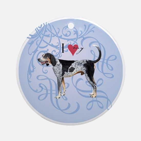 bluetick-charm2 Round Ornament
