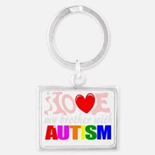 Autism brother love Landscape Keychain