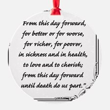 marriage vow Ornament