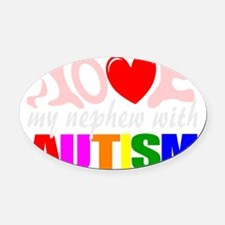 Autism love nephew Oval Car Magnet