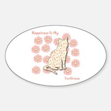Tonkinese Happiness Oval Decal