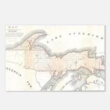 1849_Land_Survey_Map_of_M Postcards (Package of 8)