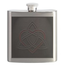 Celtic Knotwork Leather Valentine Heart Flask