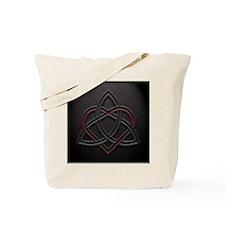 Celtic Knotwork Leather Valentine Heart Tote Bag