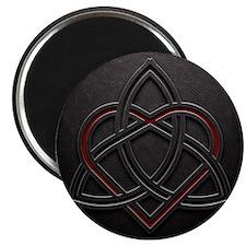Celtic Knotwork Leather Valentine Heart Magnet