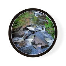 Presque Isle River Wall Clock