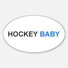 Hockey Baby (boy) Oval Decal