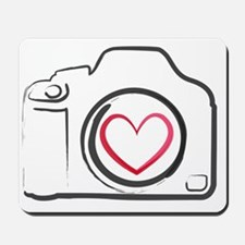 DSLR Camera Heart Mousepad