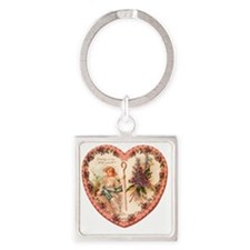 03-Greeting-Little-Sweetheart Square Keychain