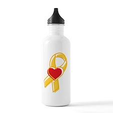 YellowRibbon_DarkShirt Water Bottle