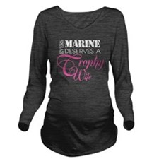 MarineTrophyWife_Dar Long Sleeve Maternity T-Shirt