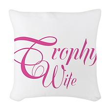 MarineTrophyWife_DarkShirt Woven Throw Pillow