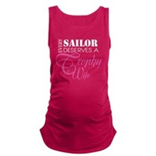 SailorTrophyWife_DarkShirt Maternity Tank Top