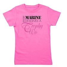 MarineTrophyWife Girl's Tee